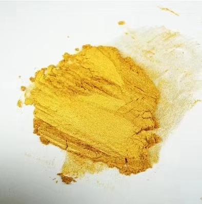 印刷用黄金色水性珠光颜料
