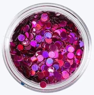 圆形紫色金葱粉